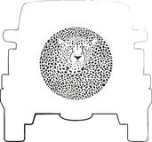 Wieldekking - Jachtluipaard stock illustratie