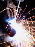 Wielding Sparks. Sparks falling in wielding jobs Royalty Free Stock Images