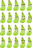 wiele śliczni kreskówek wyrażenia uśmiechu kabaczek Obraz Stock
