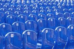 Wiele błękitny klingeryt liczący krzesło zdjęcie stock