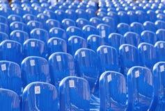 Wiele błękitny klingeryt liczący krzesło obrazy stock