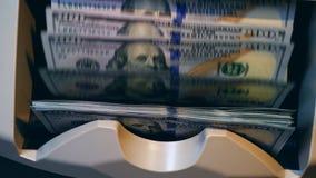 Wiele banknoty liczący na bankowości maszynie zbiory wideo