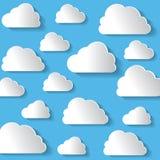 Wiele biel chmury Na Błękitnym tle Obraz Royalty Free