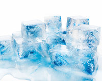 Wiele bloki błękita lód Zdjęcia Stock