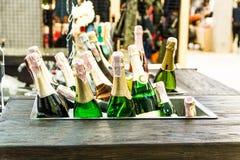 Wiele butelki szampan Obraz Stock