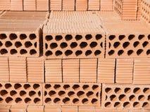 Wiele cegły na wierza Fotografia Royalty Free