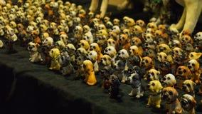 Wiele ceramiczni psów modele Zdjęcie Royalty Free