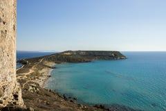 Wiele cienie błękit morze śródziemnomorskie Fotografia Stock