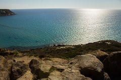 Wiele cienie błękit morze śródziemnomorskie Obrazy Royalty Free