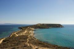 Wiele cienie błękit morze śródziemnomorskie Zdjęcie Royalty Free