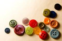 Wiele coloured guziki Fotografia Royalty Free