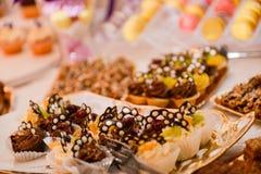 Wiele czekoladowi torty Obrazy Stock
