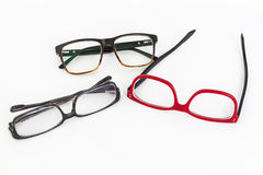 Wiele czerwieni i czerni eyeglasses obrazy royalty free