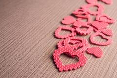 Wiele czerwonego koloru serca symbol Fotografia Royalty Free
