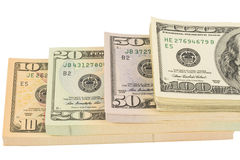 Wiele dolarowi rachunki Obraz Royalty Free