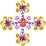 Wiele dziki kwiat odizolowywał element ornament świezi flsowers Obrazy Royalty Free