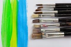 Wiele farb muśnięcia Fotografia Stock