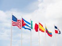 Wiele flaga różni kraje Zdjęcia Royalty Free