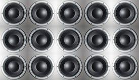 Wiele głośniki Obraz Stock