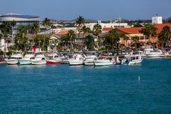 Wiele jachty Dokujący przy St Thomas Fotografia Stock
