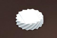 Wiele kart sterta papierowy szablon prezentacja Zdjęcie Stock