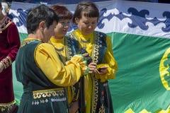 Wiele kobiety w krajowym Bashkir odziewają zdjęcie royalty free