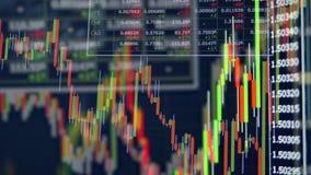 Wiele kolce na rynek papierów wartościowych sporządzają mapę z liczbami Pokaz rynek papier?w warto?ciowych wycena zdjęcie wideo