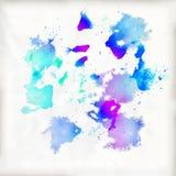 Wiele kolorów punkty na akwarela papierze Obraz Stock