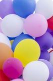 Wiele kolorowi balony Fotografia Stock