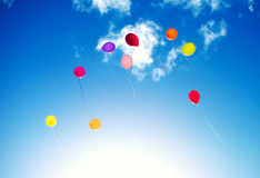 Wiele kolorowi baloons Obraz Stock
