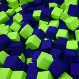 Wiele kolorowi miękka część bloki w kids& x27; ballpit przy boiskiem zdjęcia royalty free