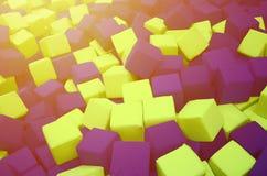 Wiele kolorowi miękka część bloki w kids& x27; ballpit przy boiskiem obrazy stock