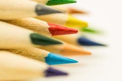 Wiele kolorowi ołówki Obrazy Royalty Free