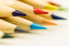 Wiele kolorowi ołówki Zdjęcie Stock