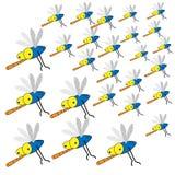 Wiele komara atak ilustracja wektor