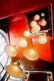 Wiele lampy na długich sznurach Obraz Royalty Free