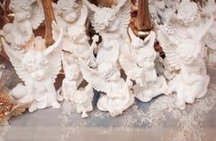 Wiele mali biali aniołowie Obraz Royalty Free