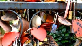 Wiele miłość kędziorki na ścianie w Bangkok - symbol miłość, przyjaźń i romans wiecznie, zbiory wideo