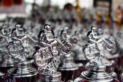Wiele mistrza srebra trofeum dla Krańcowego sporta motocyklu motocross rywalizacja Obrazy Royalty Free