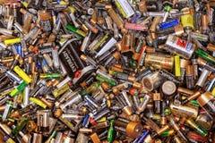 Wiele nieżywe baterie Zdjęcie Stock