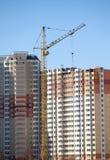 Wiele nowego budynku nowy budynek buduje w procesie Zdjęcie Stock