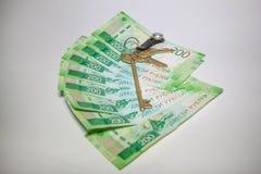 Wiele nowi banknoty dwieście Rosyjskich rubli fotografia stock