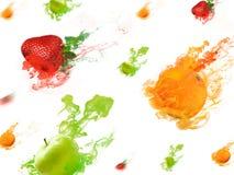 Wiele owocowa kropla Obrazy Stock