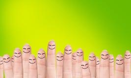 Wiele palce z patroszonymi twarzami zdjęcie royalty free