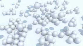 Wiele pigułek homeopatyczny spadek na tle zdjęcie wideo