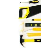 Wiele pracujący narzędzia młot, saw i inny -, dalej Zdjęcia Stock