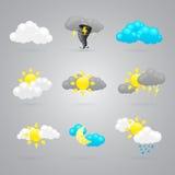 Wiele różne kolor pogody ikony royalty ilustracja
