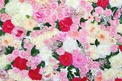 Wiele różni kwiaty, kwiecisty dekorujący ścienny tło obraz royalty free