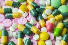 Wiele różni leki dla tła Fotografia Royalty Free
