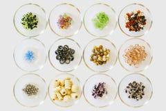 Wiele różni kolory koraliki, typ i Zdjęcie Royalty Free